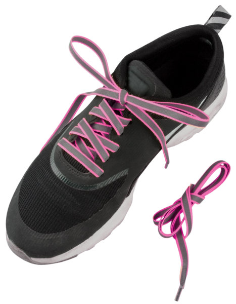 Reflective laces pink