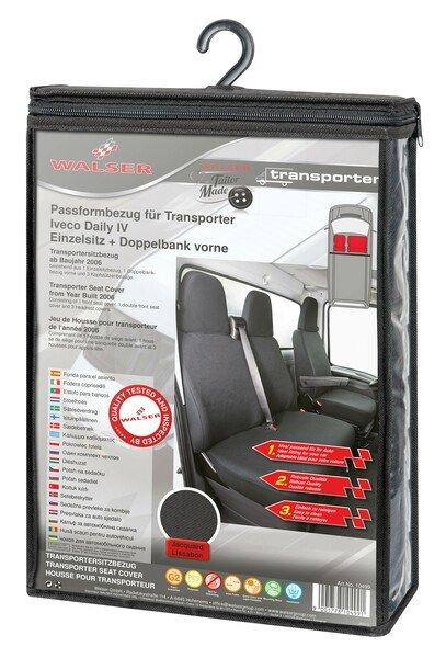 Autoschonbezug Transporter aus Stoff für Iveco Daily IV, Einzel- & Doppelbank