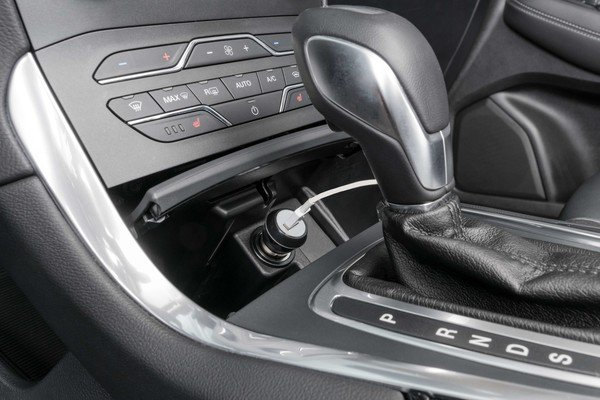 Caricabatterie USB per auto/auto - Adattatore 12/24V in nero