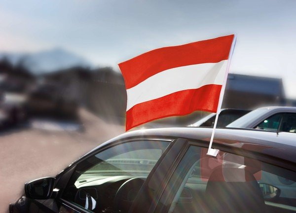 Window flag Austria