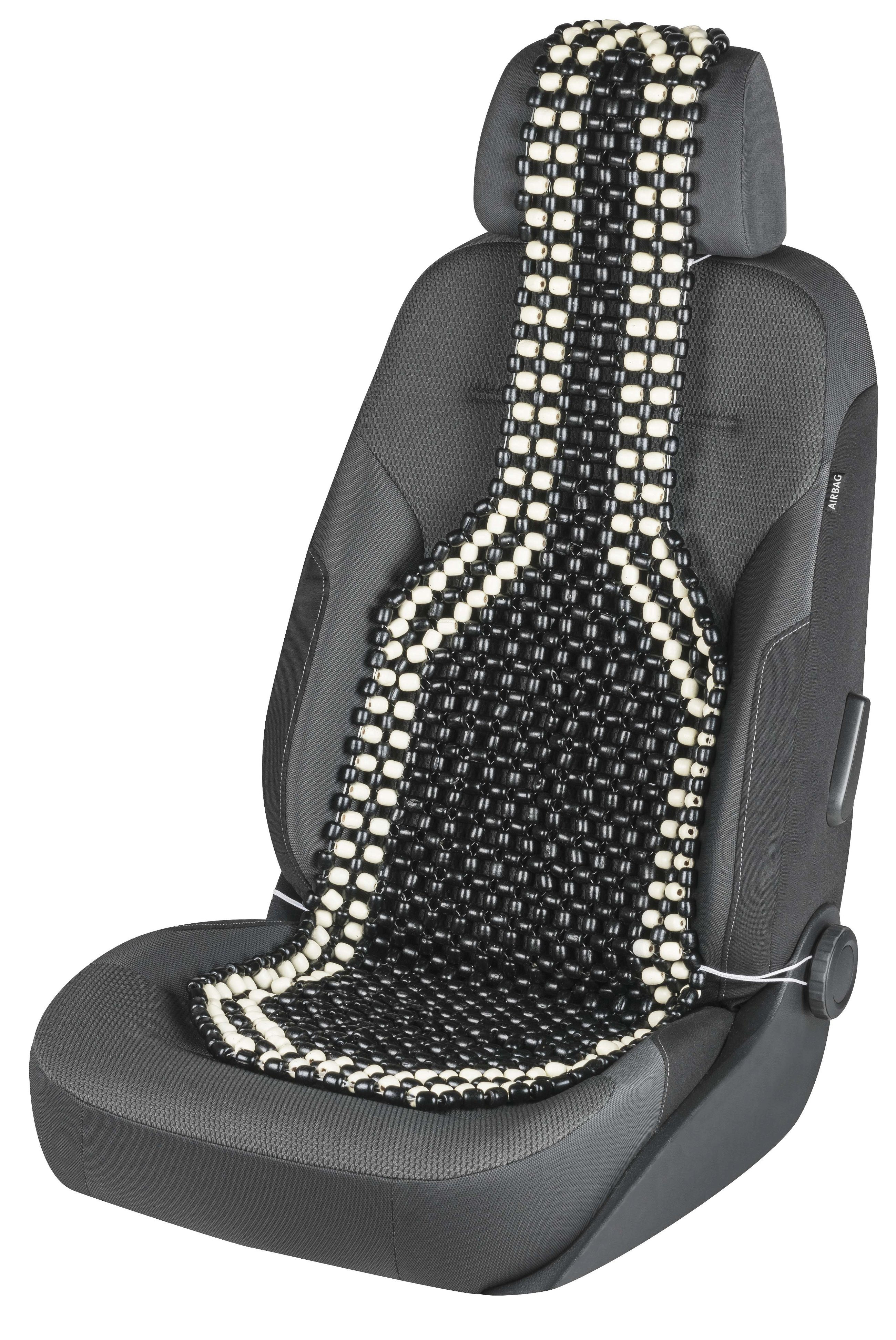 Car Seat Cover From Wooden Beads Black White Seat Cushions Seat Covers Cushions Walser Online Shop