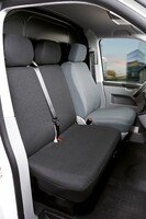 Car Seat covers for VW T5 double bench in front foldable fabric year of construction 09/2009 - today