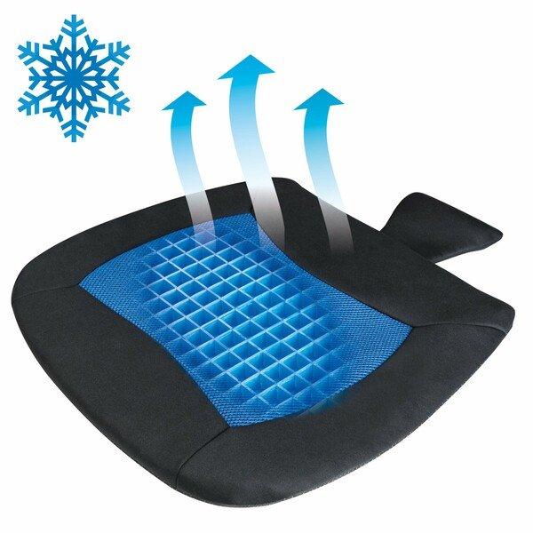 Cuscino sedile Cool Touch nero-blu