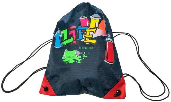 Gym bag Graffiti blue
