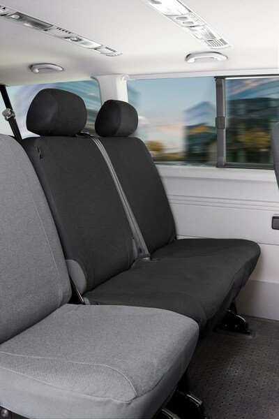 Car Seat covers for VW T5 double bench rear in fabric Year of construction 04/2003 - 06/2015