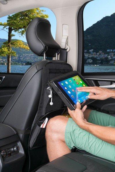 Rücksitztasche Maxi mit abnehmbarem Tablet-Halter schwarz