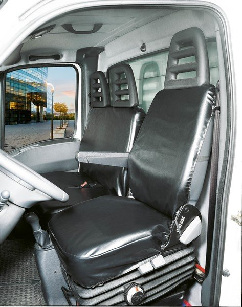 Car Seat covers Limpio universal suitable for vans Single seat and double bench in front made of imitation leather