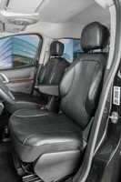 Car Seat covers for Citroen Berlingo 2 for single front seats in imitation leather, year of construction 05/2008 - 05/2018