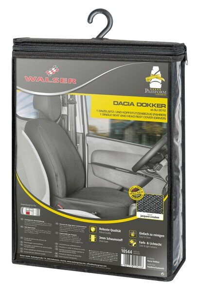 Car Seat cover Transporter made of fabric for Dacia Dokker, single seat driver