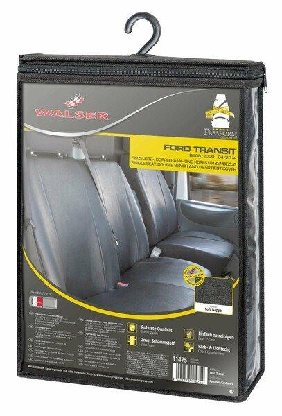 Housse de siège Transporter en simili cuir pour Ford Transit, siège simple et double