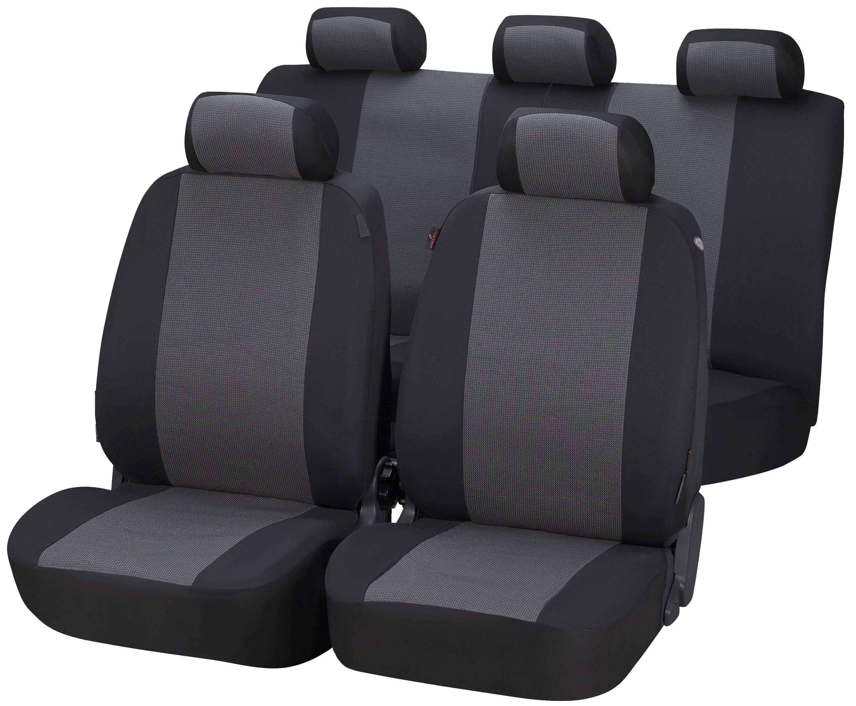 Autositzbezüge für Volkswagen Caddy III ab 04 5-Sitze Grau Transporter Bezug