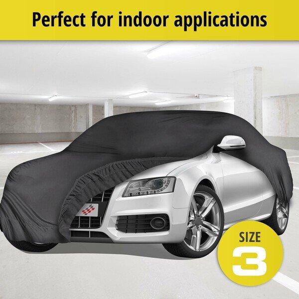 Car tarpaulin Indoor Soft size 3 black
