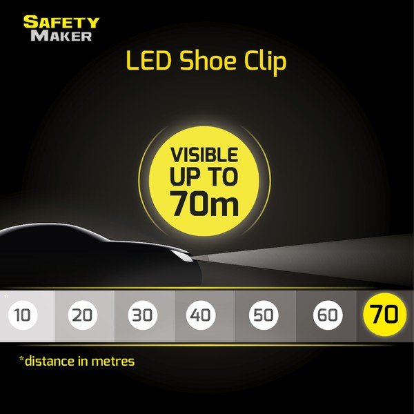 LED shoe clip white