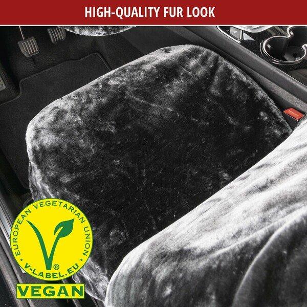 Car seat cover Teddy faux fur vegan anthracite