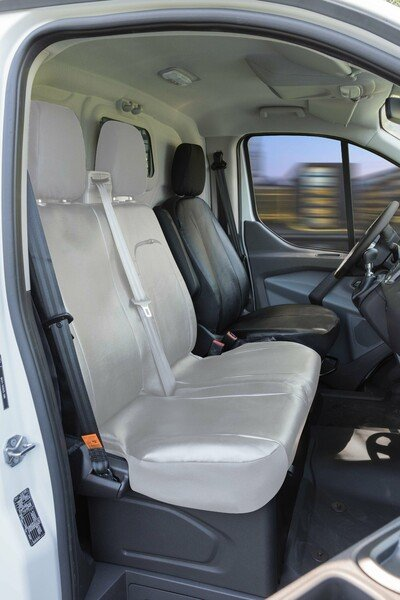Car Seat cover Transporter made of imitation leather for Ford Transit, single seat driver