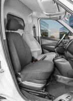 Housse de siège Transporter en tissu pour Opel Combo D, siège passager simple
