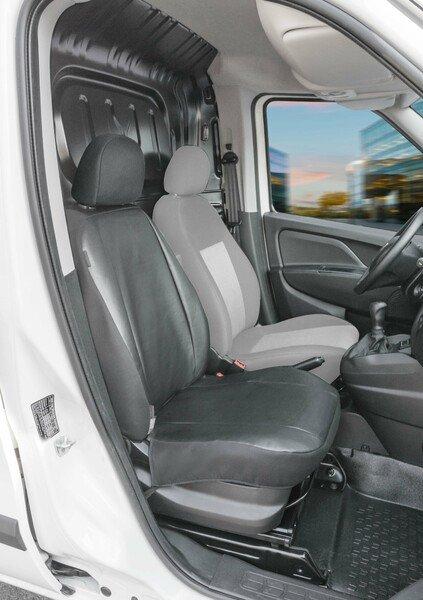 Autoschonbezug Transporter aus Kunstleder für Fiat Doblo 2, Einzelsitz Beifahrer