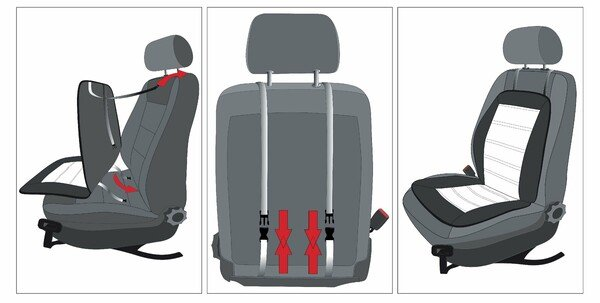 Car Seat cover Novara blue