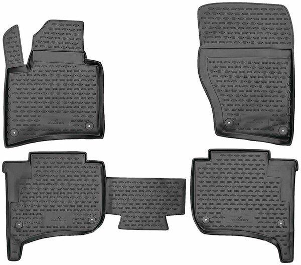 Gummimatten XTR für VW Touareg II, ohne Zweizonen-Klimaanlage Baujahr 2010 - 2018