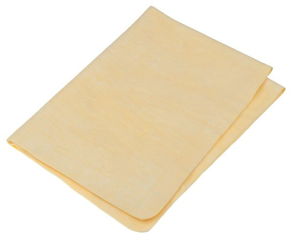 Foulard de chamois jaune, 66 x 43 cm