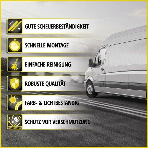 Premium Autositzbezug aus Stoff für Ford Transit Custom Einzelsitz und Doppelbank vorne Baujahr 2012 - heute
