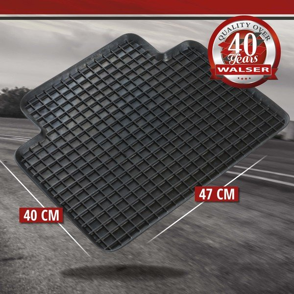 Rubber mats for honeycomb 47x40 cm Rear black