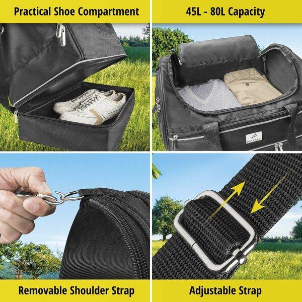 Carbags sports bag 50x30x45cm black