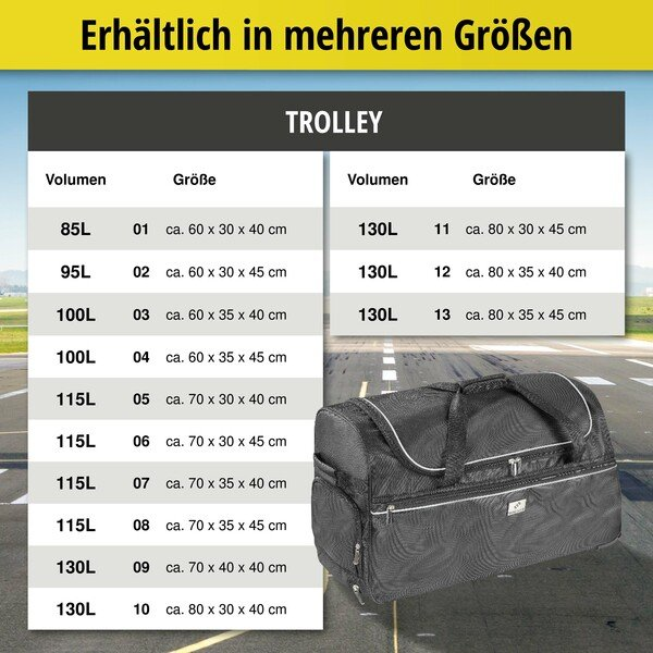 Carbags Trolley 60x30x45cm schwarz