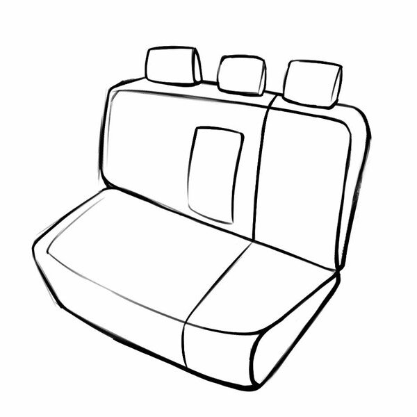 Seat cover Robusto for Fiat 500L of construction 2013 until Today - 1 rear Seat cover for normal seats