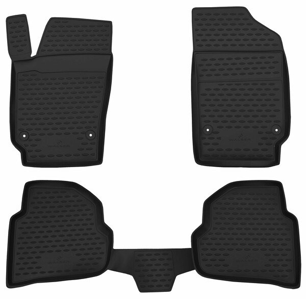 XTR rubber mats for VW Polo year 10/2001 - 10/2014