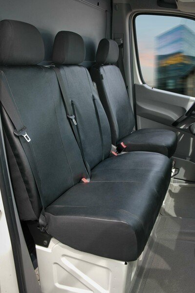 Transporter Seat covers made of imitation leather for Mercedes-Benz Sprinter, VW LT, single & double bench