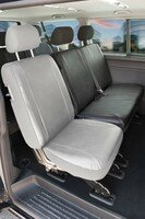 Car Seat covers for VW T5 double bench rear in imitation leather, year of contruction 04/2003-06/2015