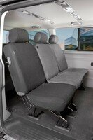 Car Seat covers for VW T5 single rear seat made of fabric year of contruction 04/2003 - 06/2015