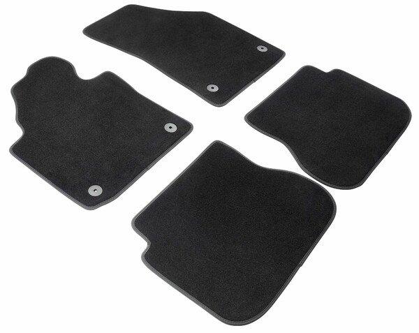 Premium Fußmatten für VW Caddy III 03/2004-05/2015, VW Caddy IV 05/2015-Heute, 2 Schiebetüren