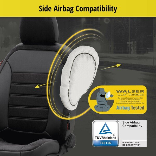 Seat cover Bari for Audi Q5 year of construction 11/2008 until 12/2017 - 2 single seat cover for normal seats