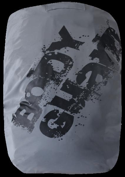 Reflektierender Bagcover silber-schwarz reflektierend
