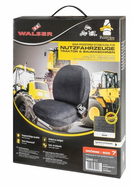 Semi-Passform Sitzbezug für Traktoren und Baumaschinen - Größe 7