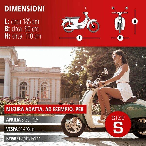 Garage per motociclette Dimensioni scooter S PVC - 185 x 90 x 110 cm grigio