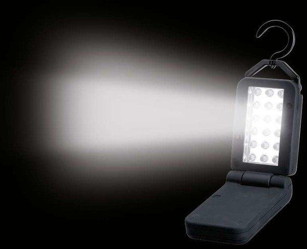 Akku LED Klapplampe 18 LED