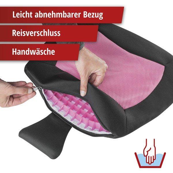 Sitzkissen Cool Touch schwarz-pink