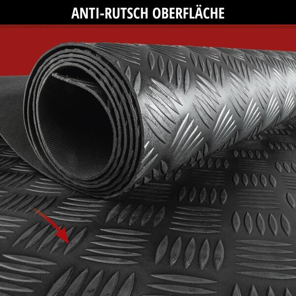 Automatte Odin geriffelt 100x250 cm universal schwarz