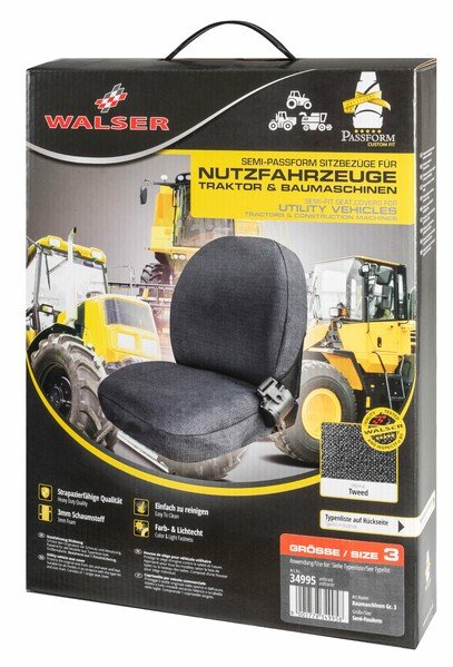 Semi-fit Seat cover for tractors and construction machinery - size 3