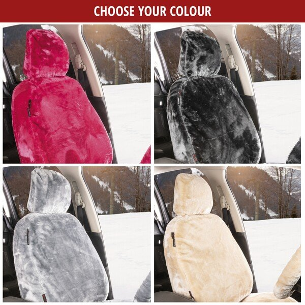 Car seat cover Teddy anthracite