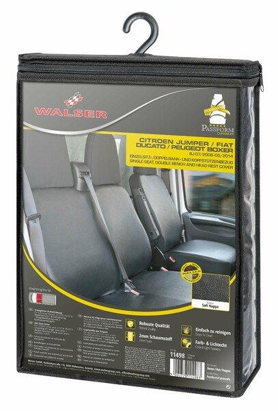 Autositzbezüge für Citroen Jumper, Fiat Ducato und Peugeot Boxer Einzelsitz und Doppelbank Kunstleder Soft