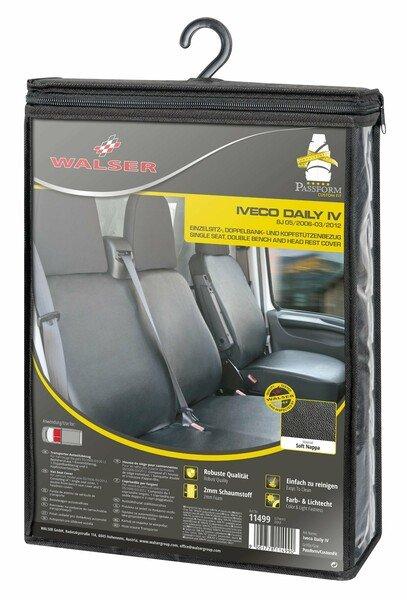 Housse de siège Transporter en simili cuir pour Iveco Daily IV, siège simple et double