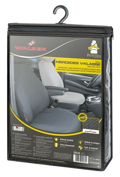 Car Seat covers for Mercedes-Benz V-Class 477 (passenger) made of fabric incl. armrest inside year of contruction from 06/2014