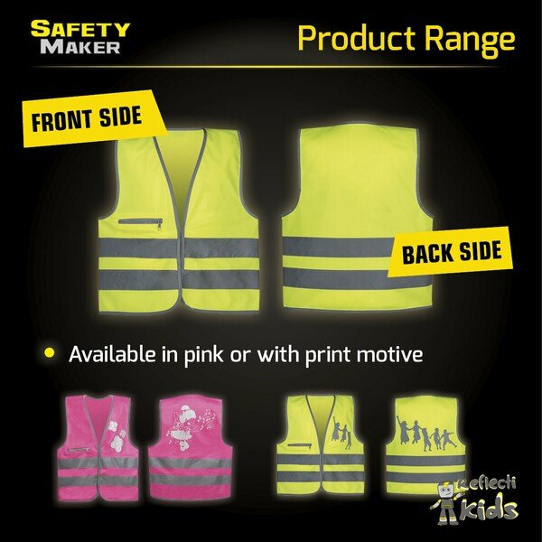 Safety vest 3-6 years yellow