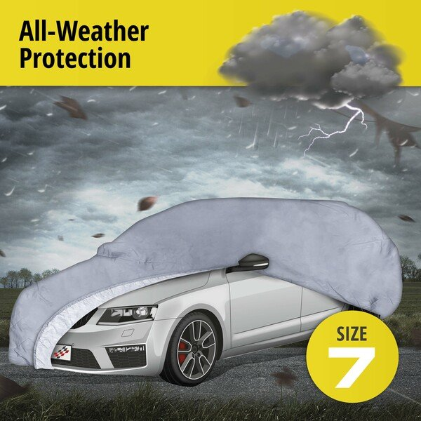 Car tarpaulin All Weather Premium size 7 grey
