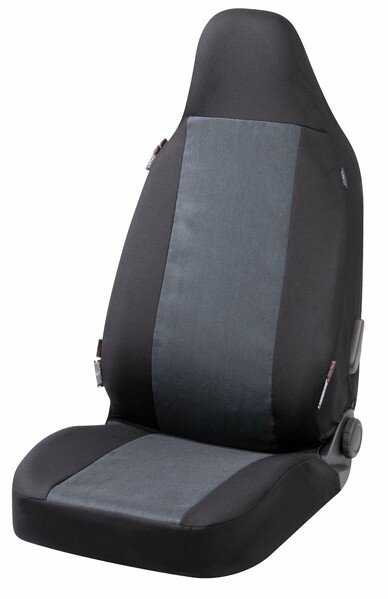 Universal Transportersitzbezug Highback für Einzelsitz vorne mit integrierter Kopfsütze anthrazit
