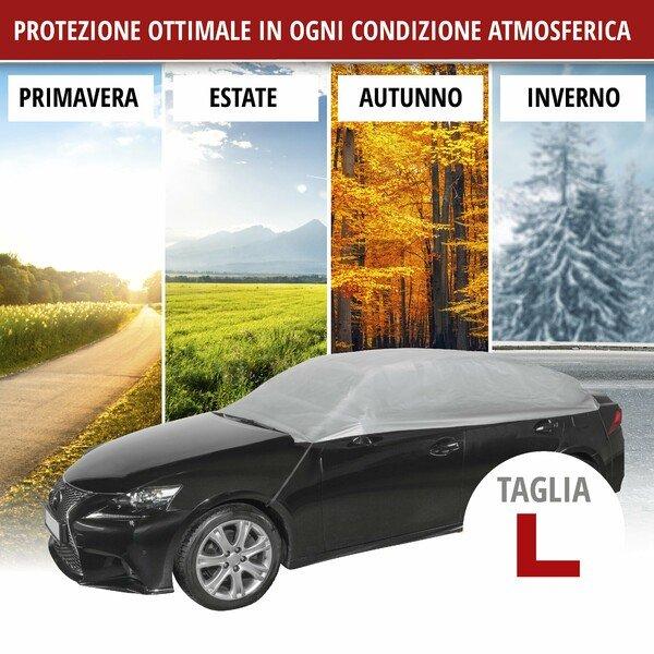 Telone protettivo All Weather Light mezza misura garage L grigio chiaro